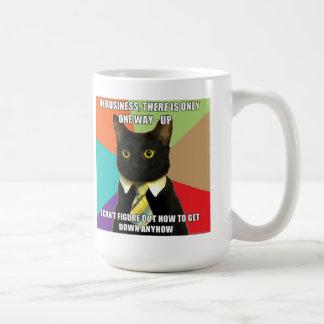 Taza del gato del negocio