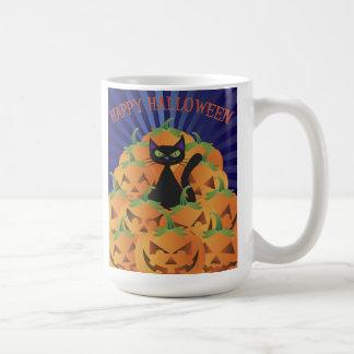 Taza del gato negro de Hallowen