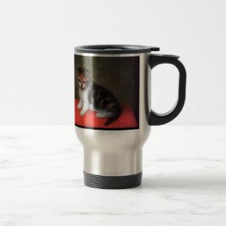 Taza del gato: Pintura del gatito de George Stubbs