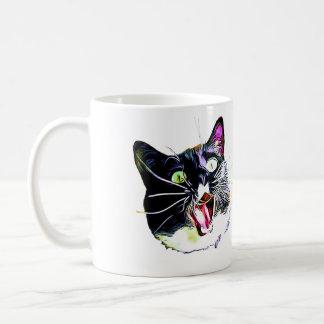"""Taza del gato que """"vine, yo vio, I FRAZZED """""""