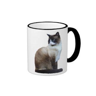 Taza del gato siamés