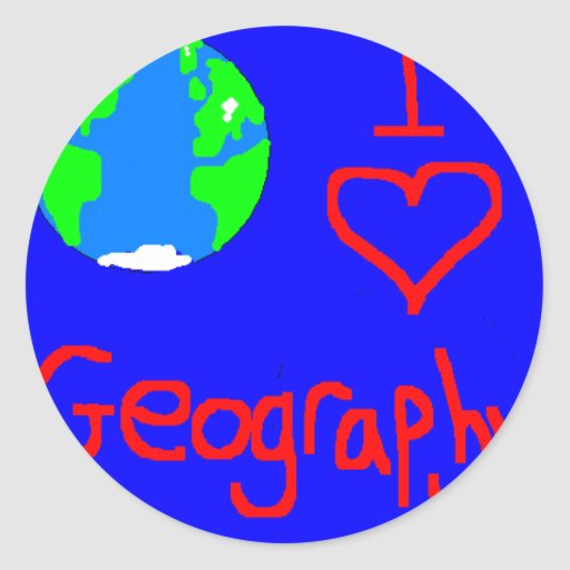 taza del geog etiquetas redondas