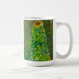 Taza del girasol de Gustavo Klimt
