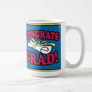 Taza del graduado de Congrats