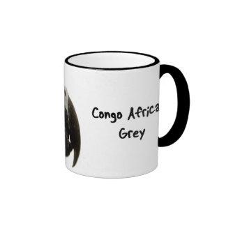 Taza del gris africano de Congo