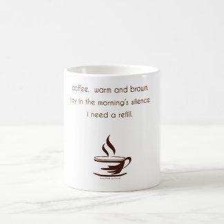 Taza del Haiku del café
