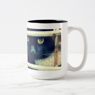 Taza del Haiku del gato de Conehead