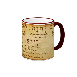 TAZA DEL HEBREO DEL 1:7 DE NAHUM