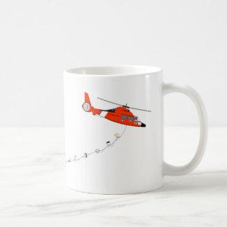 Taza del helicóptero del guardacostas