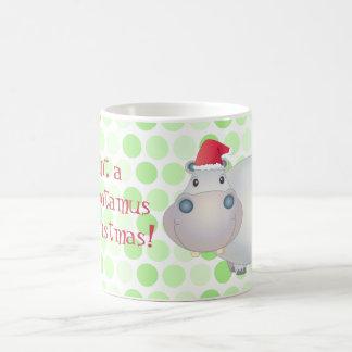 Taza del hipopótamo del navidad