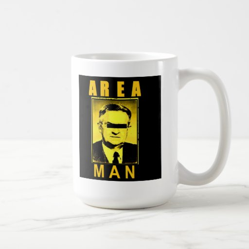 taza del hombre del área