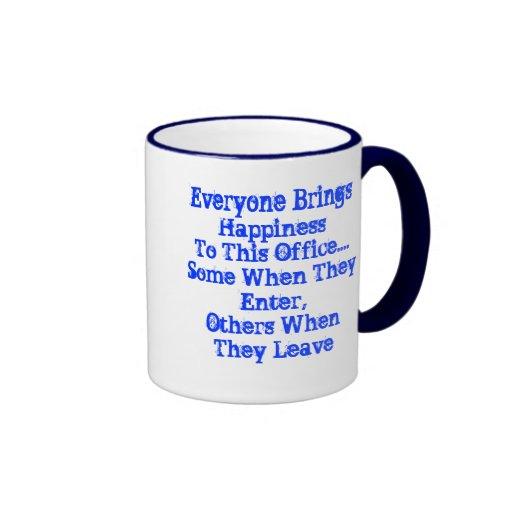 Taza del humor de la oficina