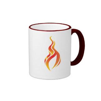 Taza del icono de la llama