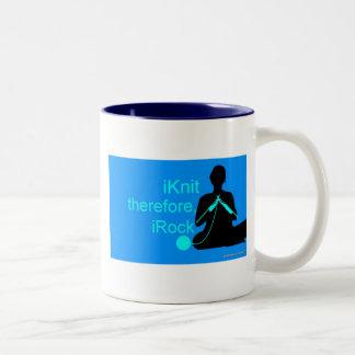 taza del iKnit (azul)