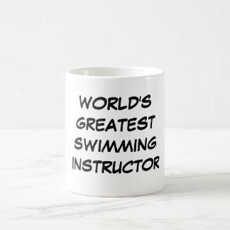 """""""Taza del instructor más grande de la natación del Taza"""
