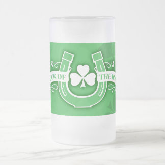 Taza del irlandés de la suerte