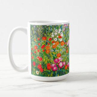 Taza del jardín de flores de Gustavo Klimt