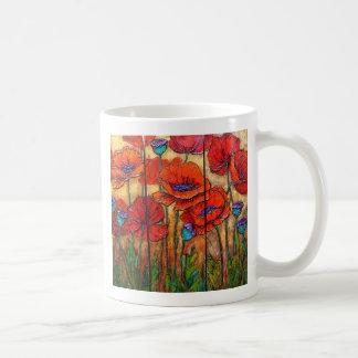 Taza del jardín de la amapola