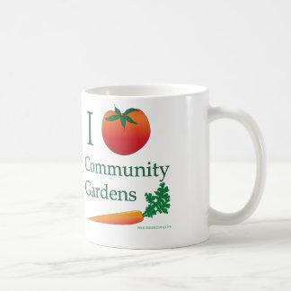 Taza del jardín de la comunidad