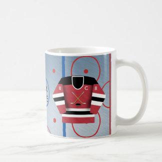 Taza del jersey de equipo de hockey del hielo