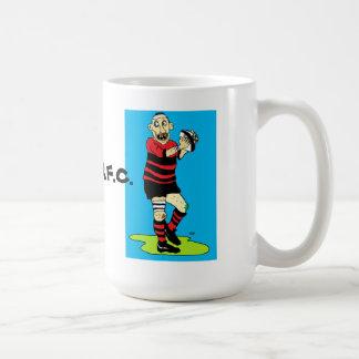 taza del jugador del rugbi