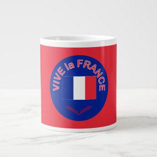 Taza del jumbo de Francia del la de Vive Tazas Jumbo