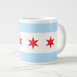 Taza del jumbo de la bandera de Chicago Taza Grande