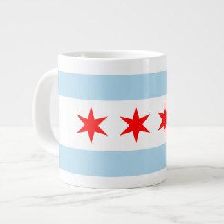 Taza del jumbo de la bandera de Chicago Taza Jumbo