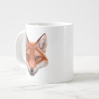 Taza del jumbo de la cara del Fox rojo Taza Grande