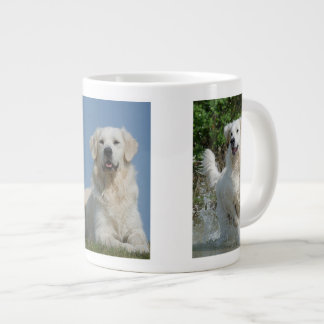 Taza del jumbo de la foto de los amantes del perro