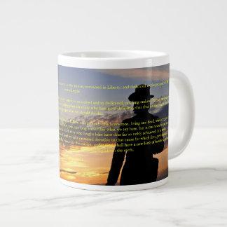 Taza del jumbo de la puesta del sol II de Gettysbu Tazas Extra Grande