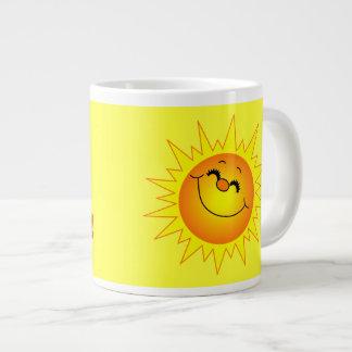 Taza del jumbo de la sol de la buena mañana taza grande