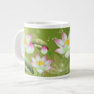 Taza del jumbo de las flores de Lotus