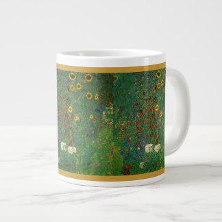 Taza del jumbo de los girasoles de Klimt Tazas Extra Grande