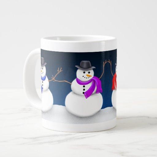 Taza del jumbo de los muñecos de nieve de las vaca tazas extra grande
