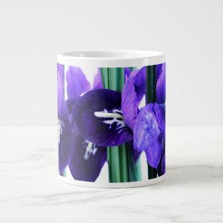 Taza del jumbo de Reticulata del iris Taza Grande