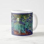 Taza del jumbo de Van Goghs Irises Taza Extra Grande