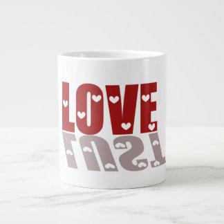 Taza del jumbo del amor o de la lujuria taza grande