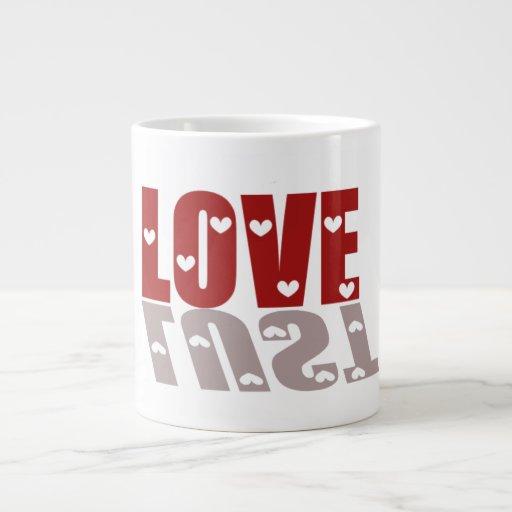 Taza del jumbo del amor o de la lujuria taza jumbo