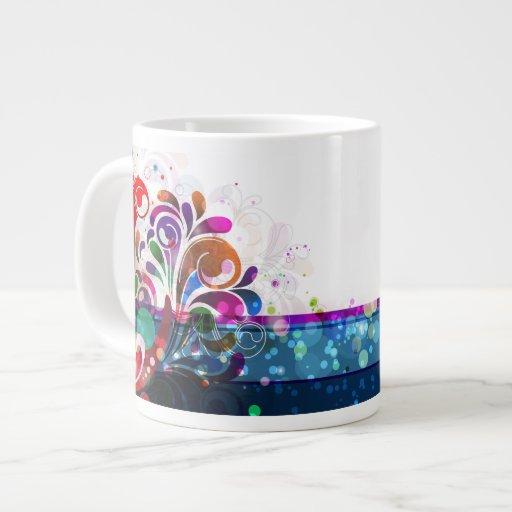 Taza del jumbo del arte abstracto 16 taza grande