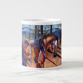 Taza del jumbo del caballo del lago cedar tazas extra grande