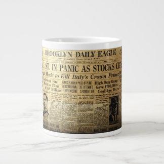 Taza del jumbo del café del periódico del mercado taza grande