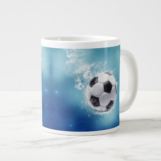 Taza del jumbo del chapoteo del agua del fútbol
