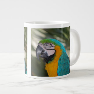 Taza del jumbo del loro del Macaw del azul y del o Taza Jumbo
