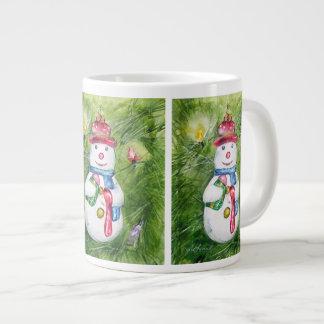 Taza del jumbo del muñeco de nieve del árbol de na taza extra grande