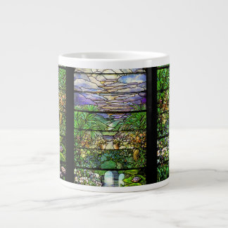 Taza del jumbo del vitral de Nouveau del arte de T
