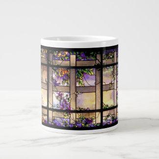 Taza del jumbo del vitral de Nouveau del arte de T Taza Grande