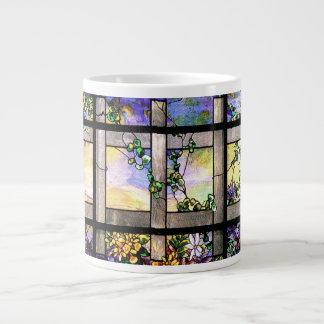 Taza del jumbo del vitral de Tiffany Taza Grande