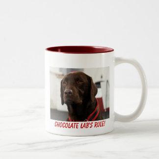 Taza del laboratorio del chocolate