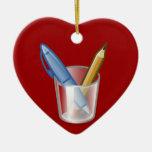 Taza del lápiz de la pluma del escritor ornamento de reyes magos